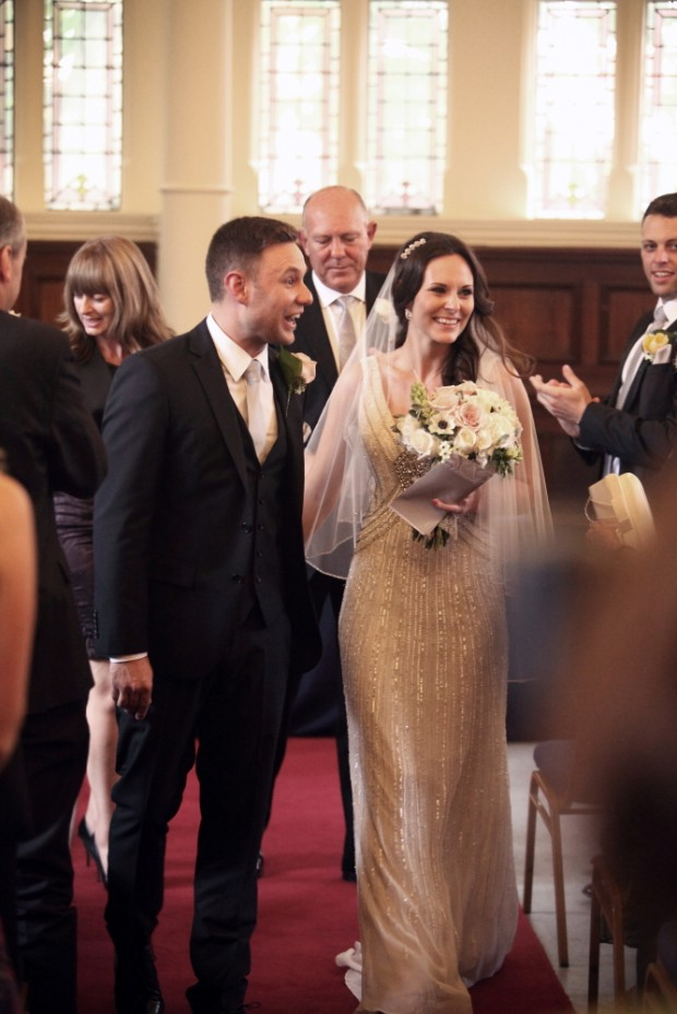 Old Finsbury Town Hall Wedding With Stunning Art Deco Anoushka G Dress: Matt & Lauren