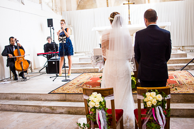 A Fun, French Fuchsia Real Wedding With Rime Arodaky Bride: Mr & Mrs L