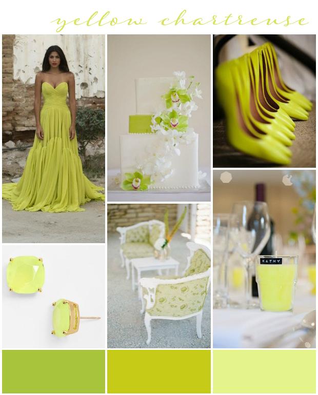 Chartreuse Yellow Wedding Inspiration
