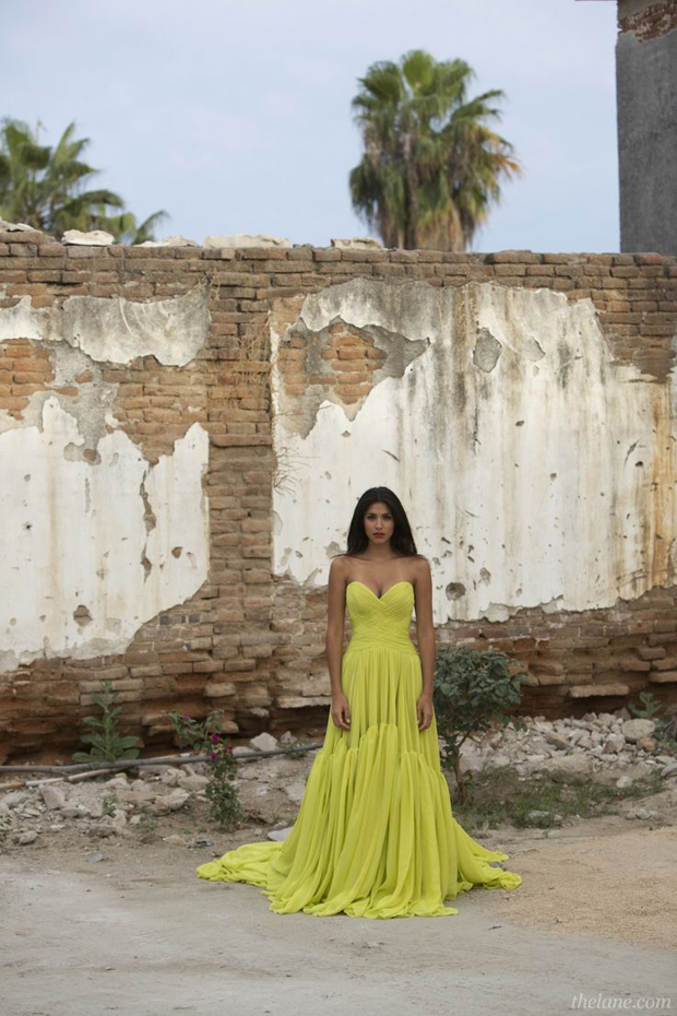 Chartreuse Yellow Wedding dresses