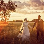 Lace, Burlap & Hessian Wedding With Original 50s Wedding Dress: Alon & Jodie
