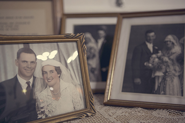 Homemade Lace, Burlap & Hessian Wedding With Original 50s Wedding Dress: Alon & Jodie