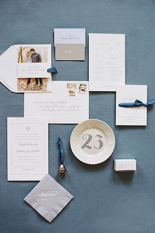 Slate & Blues: Wedding Colour Inspiration & Ideas