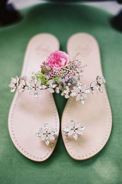pretty wedding flats perfect for a garden wedding