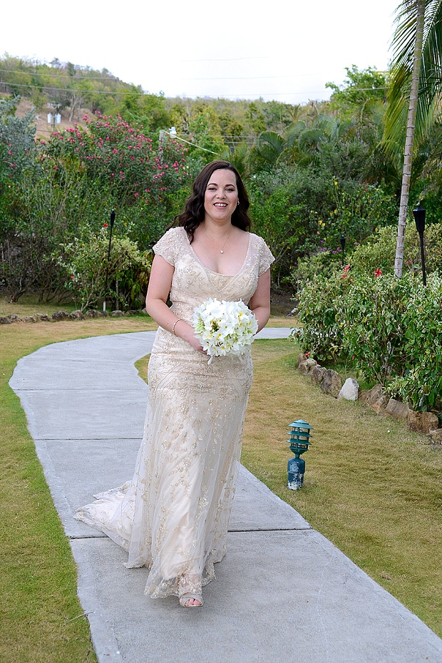 Gold, Champagne Glam Beach Vow Renewal in Antigua Sonia & Chris (17)