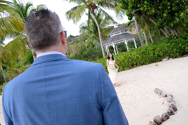 Gold, Champagne Glam Beach Vow Renewal in Antigua Sonia & Chris (18)