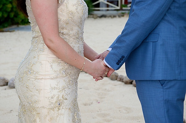 Gold, Champagne Glam Beach Vow Renewal in Antigua Sonia & Chris (19)