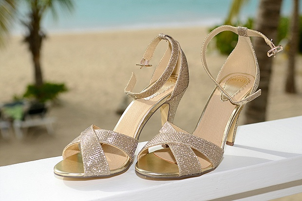 Gold, Champagne Glam Beach Vow Renewal in Antigua Sonia & Chris (2)