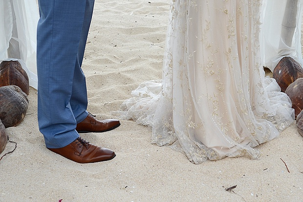 Gold, Champagne Glam Beach Vow Renewal in Antigua Sonia & Chris (20)