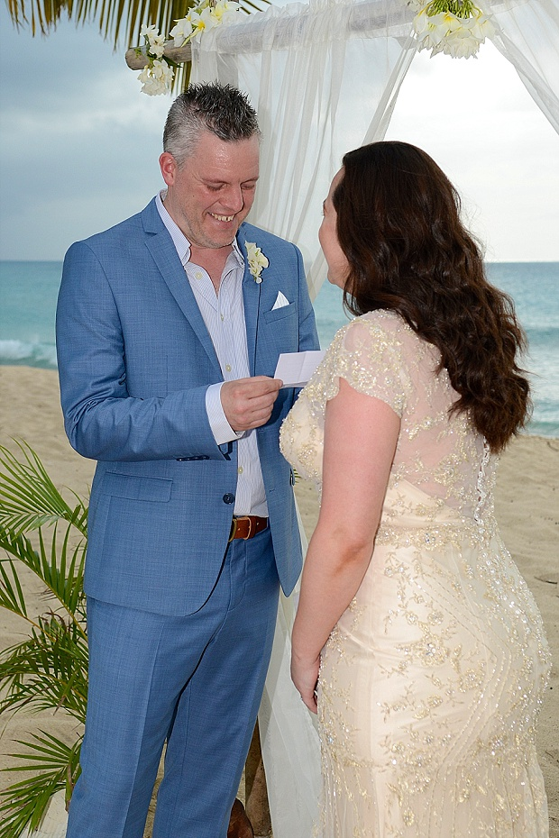 Gold, Champagne Glam Beach Vow Renewal in Antigua Sonia & Chris (22)