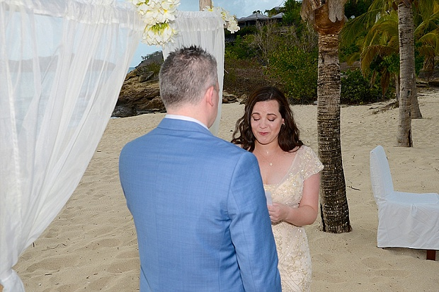 Gold, Champagne Glam Beach Vow Renewal in Antigua Sonia & Chris (23)