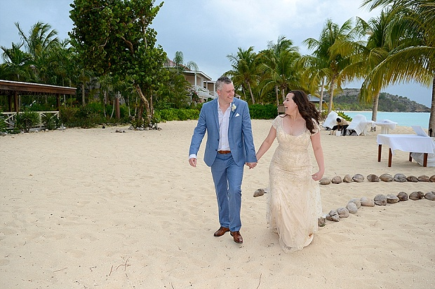 Gold, Champagne Glam Beach Vow Renewal in Antigua Sonia & Chris (29)