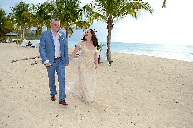 Gold, Champagne Glam Beach Vow Renewal in Antigua Sonia & Chris (30)
