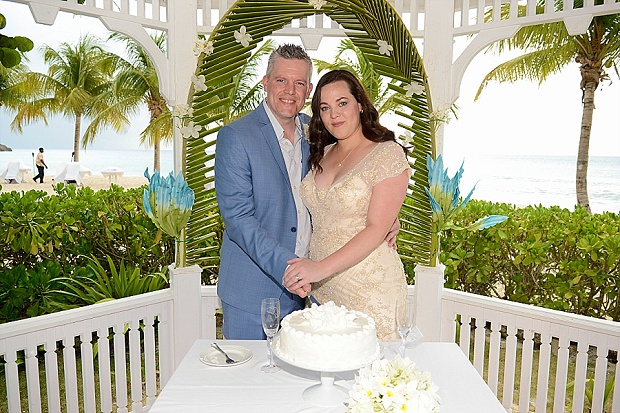 Gold, Champagne Glam Beach Vow Renewal in Antigua Sonia & Chris (34)