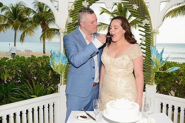 Gold, Champagne Glam Beach Vow Renewal in Antigua Sonia & Chris (36)
