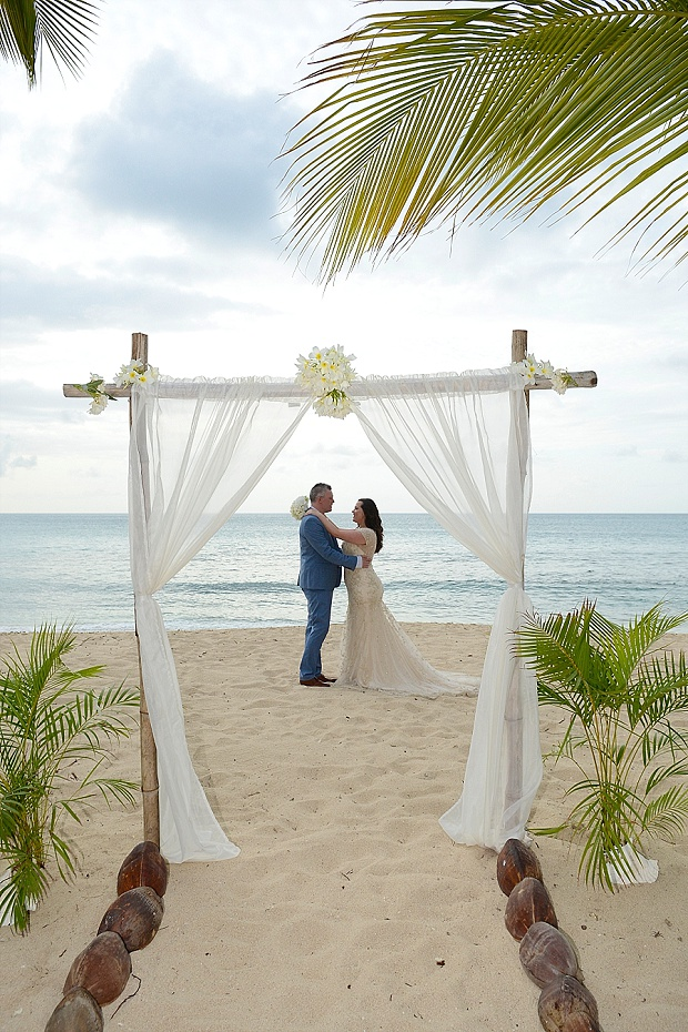 Gold, Champagne Glam Beach Vow Renewal in Antigua Sonia & Chris (38)