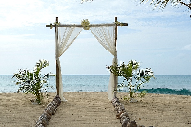 Gold, Champagne Glam Beach Vow Renewal in Antigua Sonia & Chris (4)