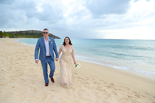 Gold, Champagne Glam Beach Vow Renewal in Antigua Sonia & Chris (42)