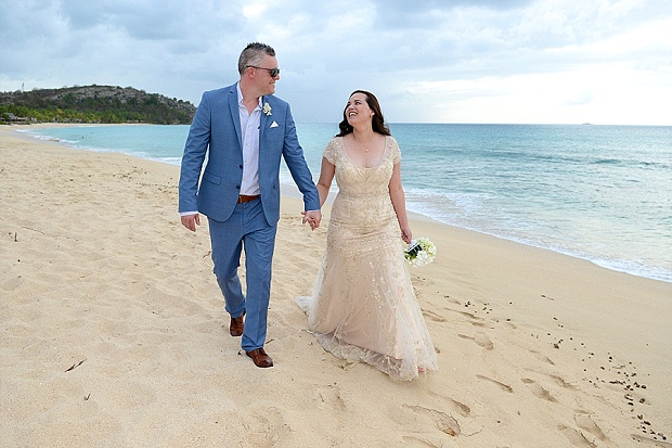 Gold, Champagne Glam Beach Vow Renewal in Antigua Sonia & Chris (43)