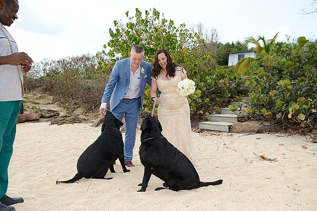 Gold, Champagne Glam Beach Vow Renewal in Antigua Sonia & Chris (44)