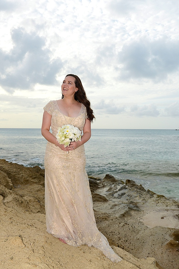 Gold, Champagne Glam Beach Vow Renewal in Antigua Sonia & Chris (46)