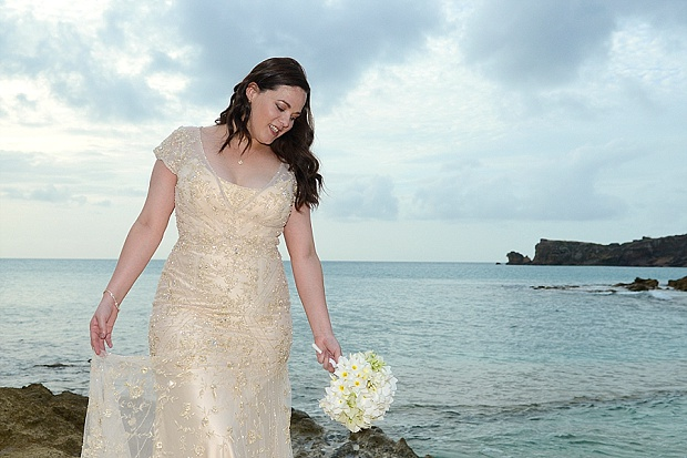 Gold, Champagne Glam Beach Vow Renewal in Antigua Sonia & Chris (47)