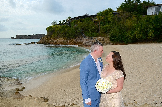 Gold, Champagne Glam Beach Vow Renewal in Antigua Sonia & Chris (48)