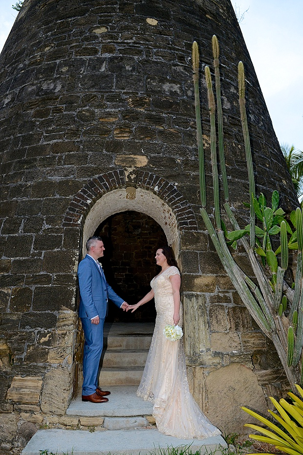 Gold, Champagne Glam Beach Vow Renewal in Antigua Sonia & Chris (53)