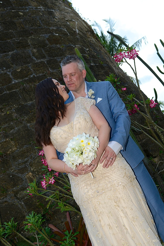 Gold, Champagne Glam Beach Vow Renewal in Antigua Sonia & Chris (56)