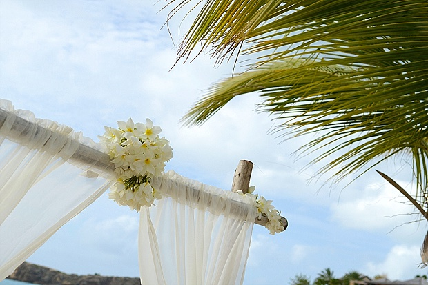 Gold, Champagne Glam Beach Vow Renewal in Antigua Sonia & Chris (7)