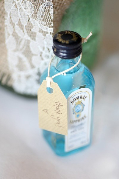 bombay sapphire wedding favour