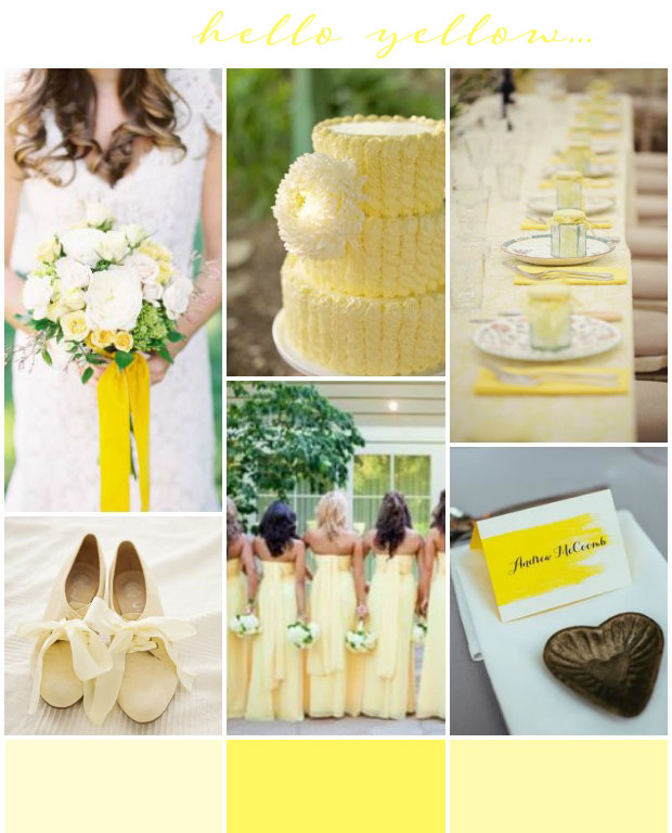 Hello Yellow: Wedding Inspiration & Colour Ideas
