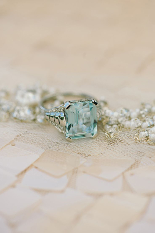 mint green engagement ring