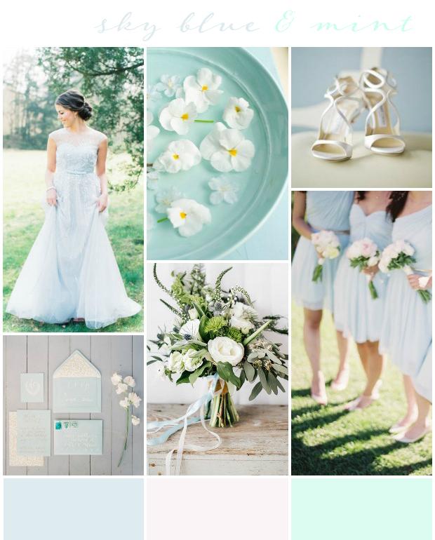 Mint Wedding Ideas: Sky Blue & Mint Wedding Inspiration: Colour Ideas