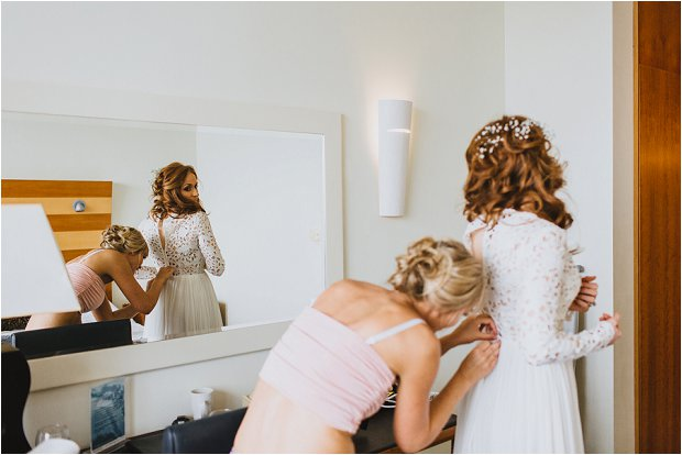 A Grecian Style Wedding With Gold Touches & a KILLER Wedding Dress: Kevin & Angelina