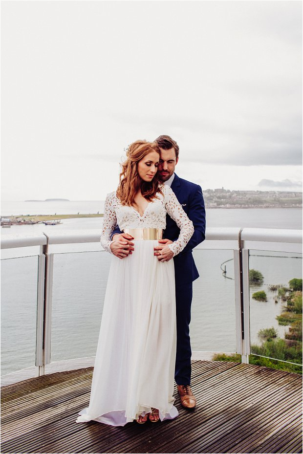 A Grecian Style Wedding With Modern Touches of Gold & a KILLER Wedding Dress: Kevin & Angelina