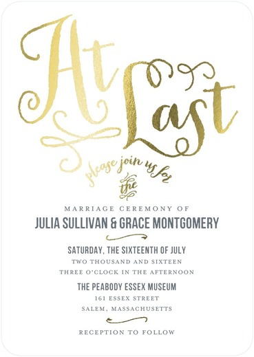 At Last Wedding Invitations Storm
