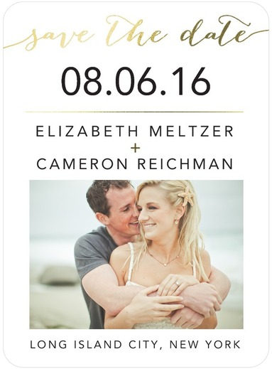 Elegant Exchange Save The Dates White