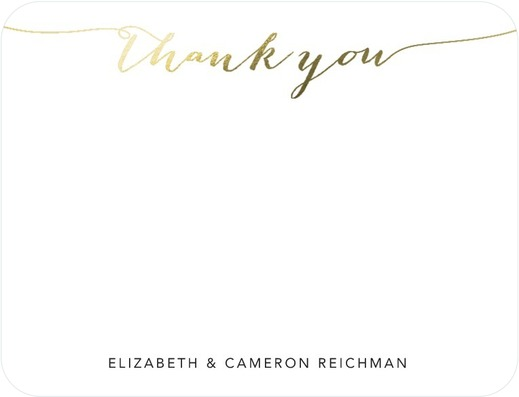 Elegant Exchange Thank You Cards White