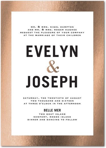 Gilded Romance Wedding Invitations White