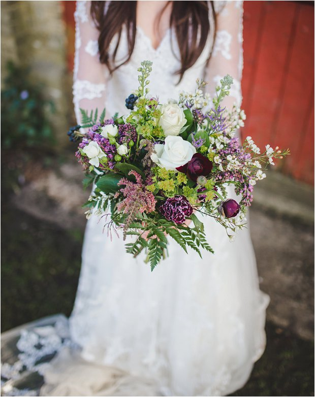 Lace Sleeves and Floral Crown Bride South Farm Wedding Charlene & Ian_0142