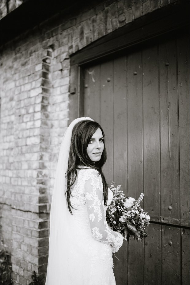 Lace Sleeves and Floral Crown Bride South Farm Wedding Charlene & Ian_0144