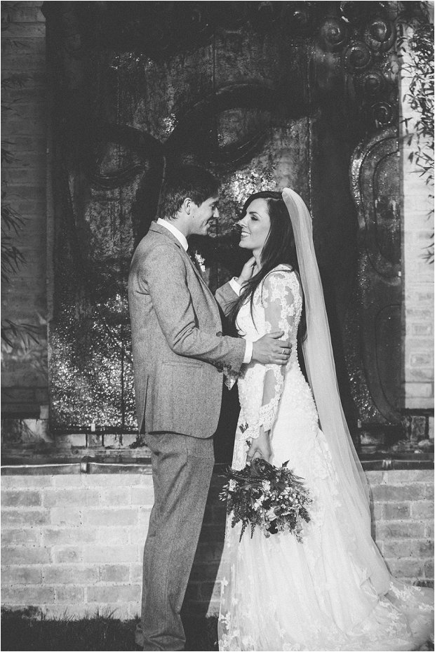 Lace Sleeves and Floral Crown Bride South Farm Wedding Charlene & Ian_0147