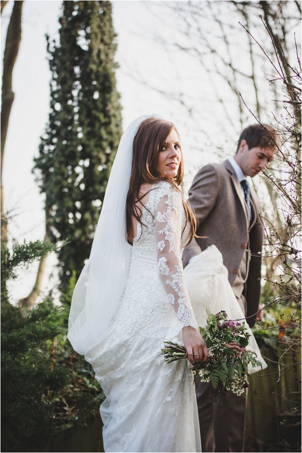 Lace Sleeves & Floral Crowns, South Farm Wedding: Charlene & Ian