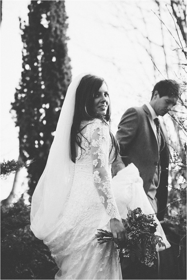 Lace Sleeves and Floral Crown Bride South Farm Wedding Charlene & Ian_0149