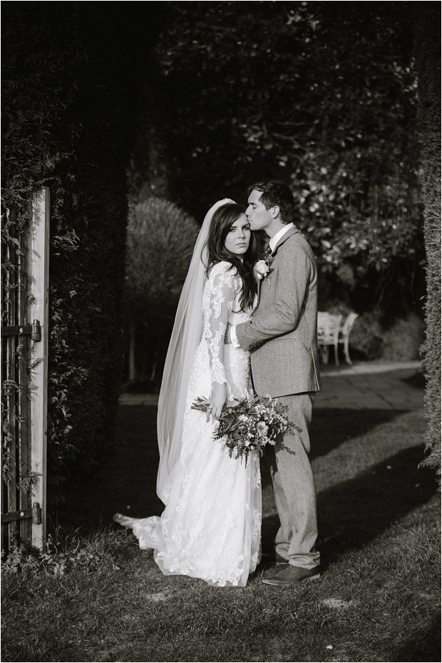Lace Sleeves and Floral Crown Bride South Farm Wedding Charlene & Ian_0156
