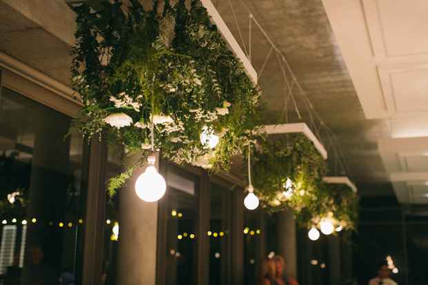 Raw Wood, Foliage Chandeliers & White Flowers Stellenboche Wedding: Susy & Eugene