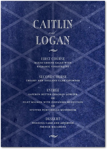 Twilight Trellis Menu Cards Baltic