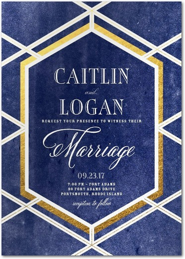 Twilight Trellis Wedding Invitations