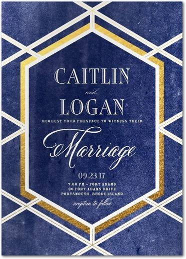 Twilight Trellis Wedding Invitations